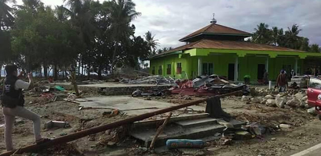 Kuasa Allah, Tsunami Hanya 'Terbang' di Atas Kubah, Masjid Jami Pantoloan Tetap Utuh