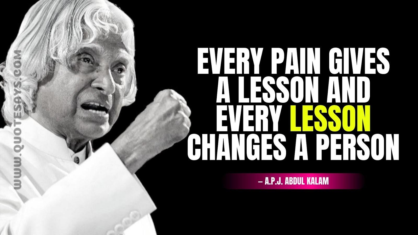 Apj Abdul Kalam Quotes about life
