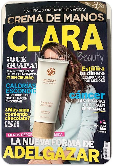 Regalos revistas marzo 2016: Clara (Crema de manos NaoBay)