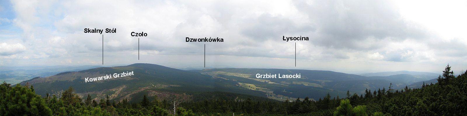 Panorama z Czarnej Kopy.