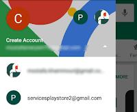 تبديل بين حسابات جوجل متجر Play