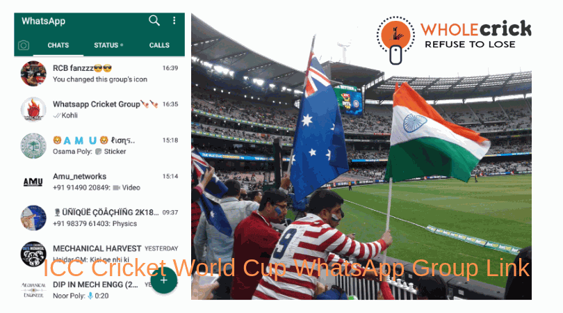 WholeCrick: Top ICC Cricket World Cup WhatsApp Group Link