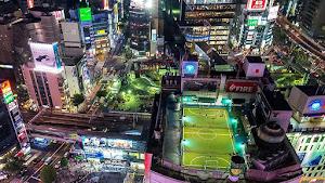外国人「日本の渋谷を斜め上から見た写真が凄い」(海外の反応)