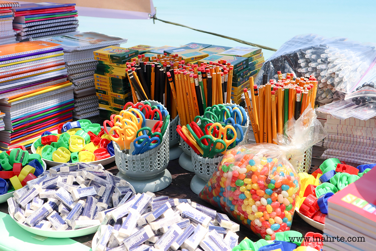school supplies for kids outreach program in Jomalig Quezon by TRAPKADA | INAHRTE