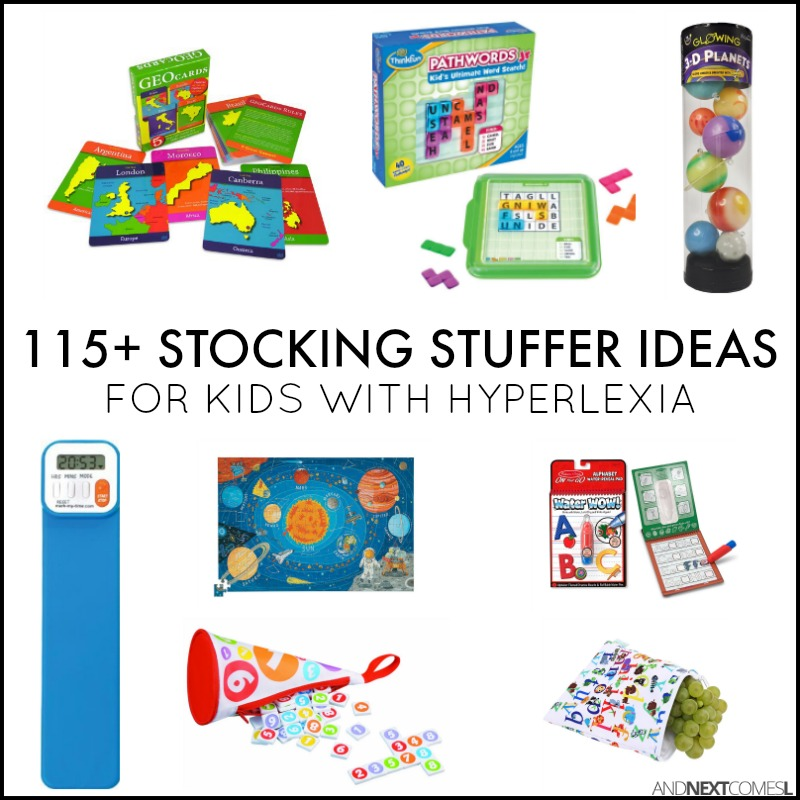 christmas stocking stuffer ideas for kids with hyperlexia alphabet numbers geography space