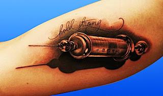 model de seringa pentru tatuaj