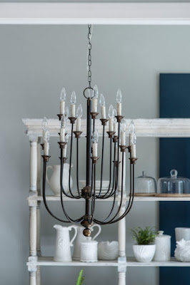 New Home Lighting Options-French Country-Farmhouse-Traditional-Dining Room-Chandleier-From My Front Porch To Yours