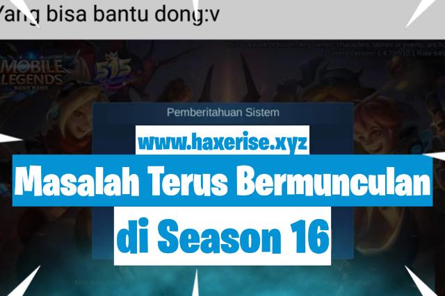 bug mobile legends, season 16, season paling buruk