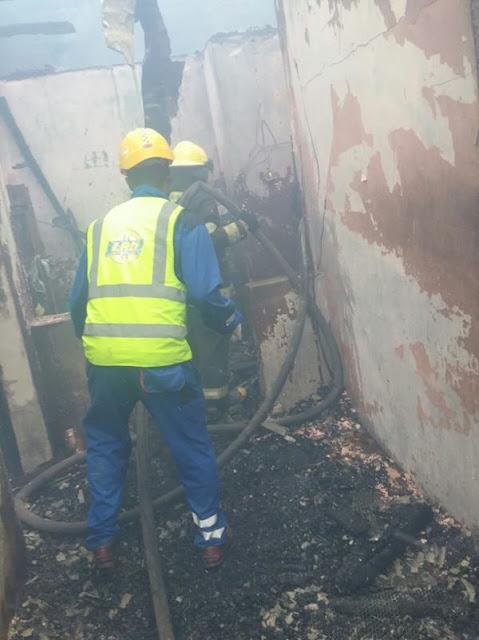Fire outbreak in  Lawanson Surulere, Lagos777