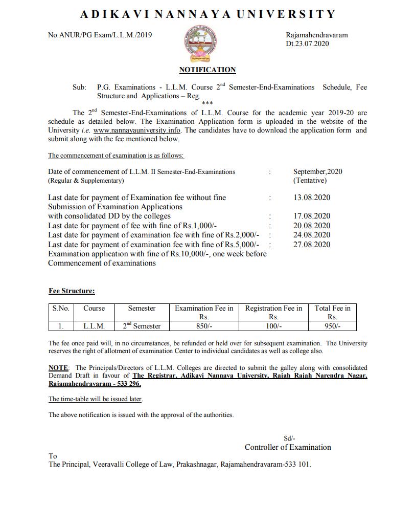 Andhra University (SDE) BA & B.Com Common Entrance Sep 2020 Exam Notification