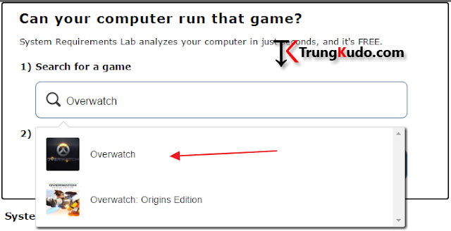 Kiểm tra cấu hình máy tính có chơi được game hay không bằng phần mềm tự động