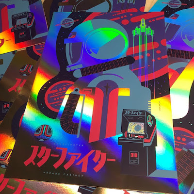 New York Comic Con 2019 Exclusive Starfighter Foil Edition Screen Print by Tom Whalen