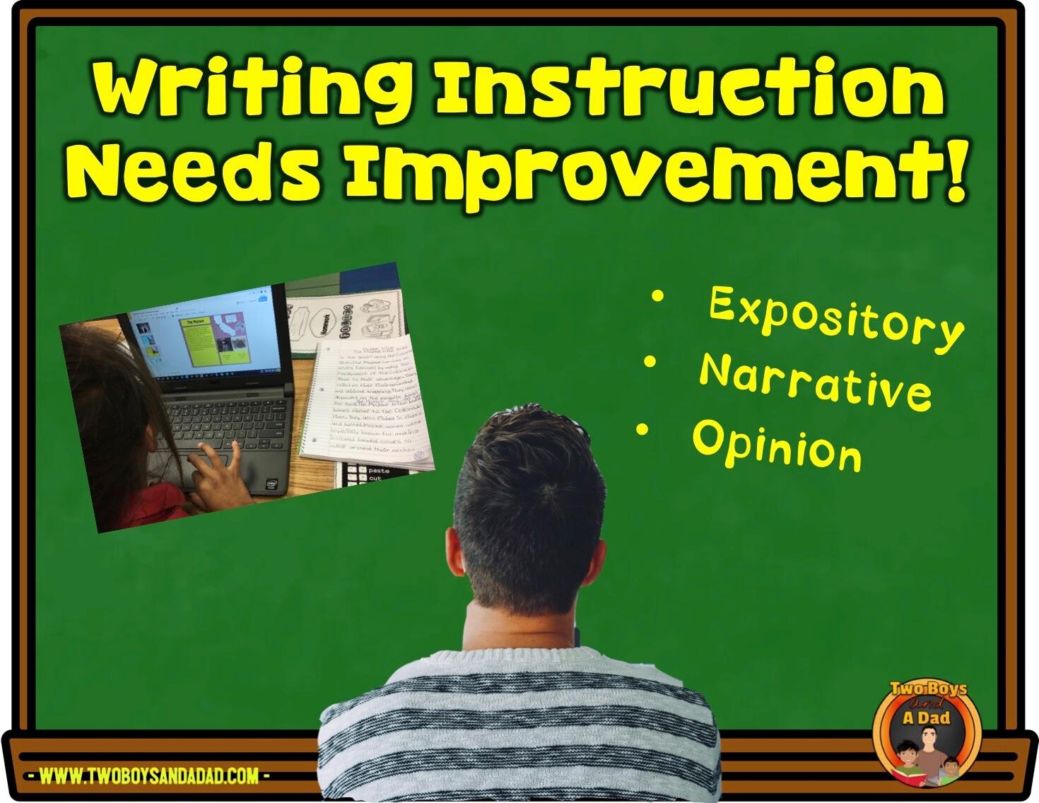 Improve writing instruction