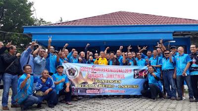 Lepas 51 Anggota PWI ke Surabaya, Walikota Pairin: Jaga Nama Baik Metro di Ajang HPN ke 33
