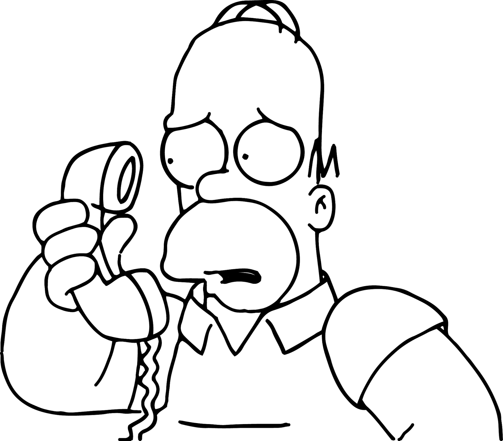 homer coloring pages - photo#18