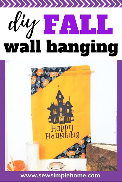 Create your own diy fall wall hanging and learn how to make a fabric wall hanging with a dowel.