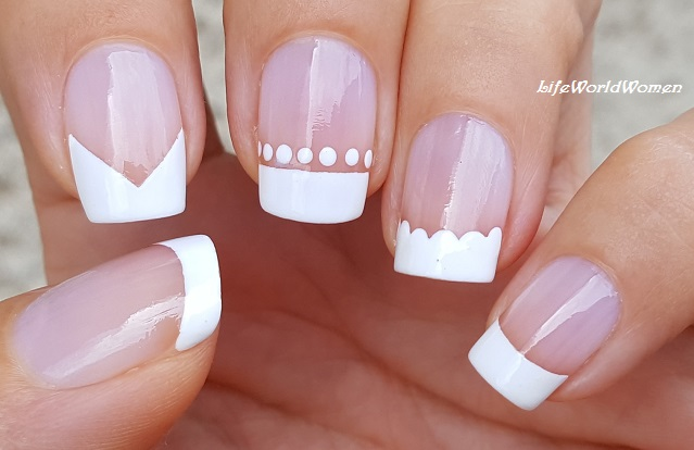 5 Easy White French Manicure Nail Art Designs (My Favorite Ones) - Life World Women: 5 Easy White French Manicure Nail Art Designs (My