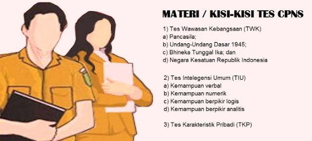 Pelaksanaan pendaftaran online penerimaan CPNS  MATERI /  KISI-KISI SOAL TES CPNS TAHUN 2018