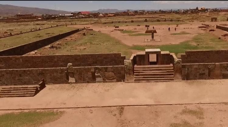 El templo de Kalasasaya en el sitio arqueológico de Tiwanaku, el centro ritual que fue cosmopolita / UNESCO