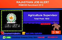 Agriculture Supervisor Recruitment 2018