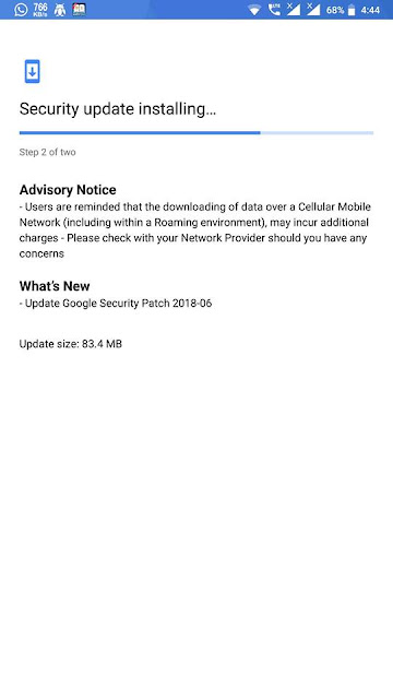 Nokia 8 June 2018 Android Security Update
