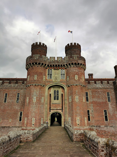 Herstmonceux Castle in East Sussex is a great example of moated castle & makes a fun day out for all the family
