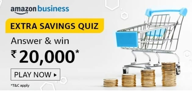 Amazon Extra Savings Quiz Answers Win – Rs.20000 Pay Balance