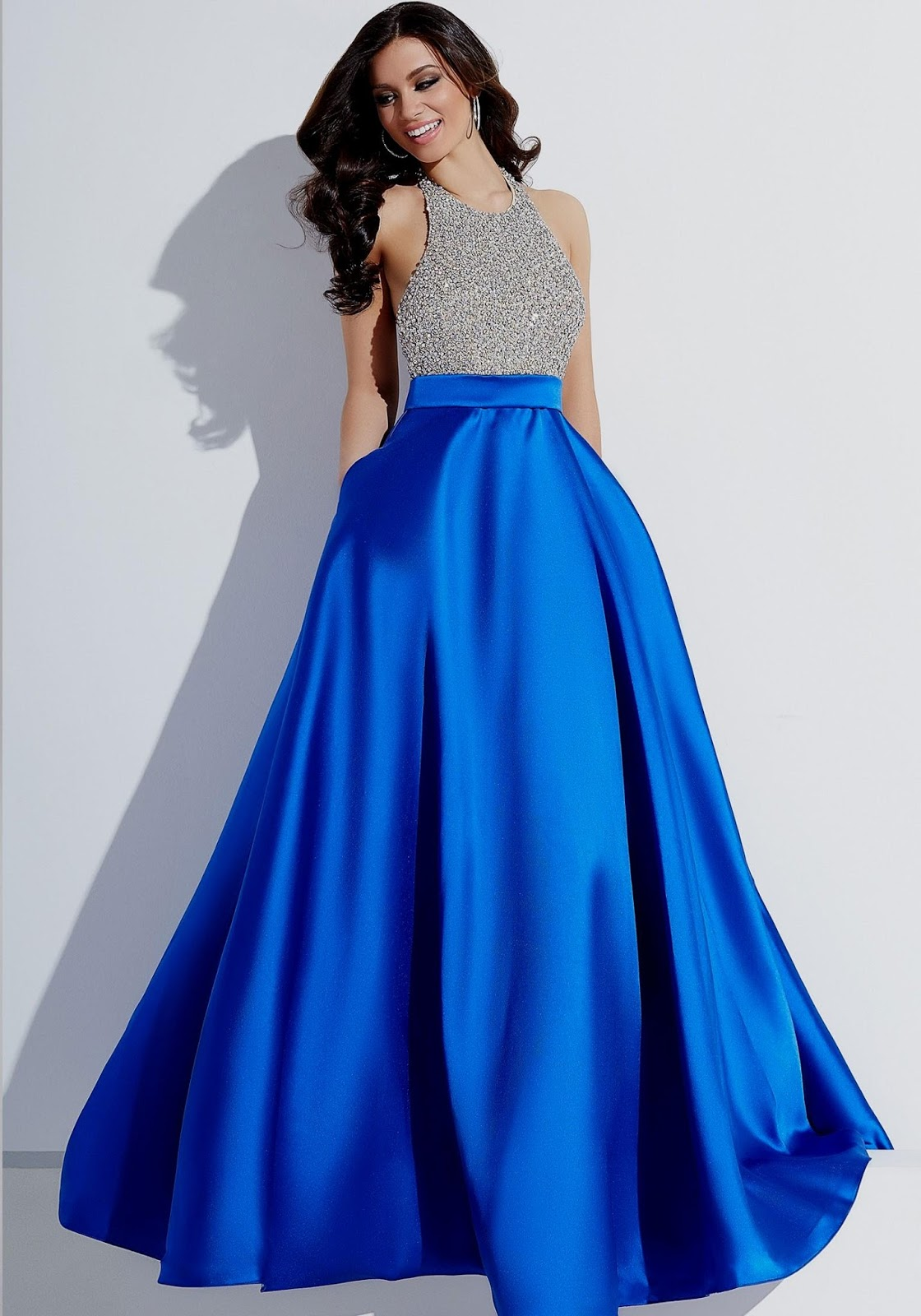 Royal blue bridesmaid dress all about wedding dress for Blue silver wedding dress
