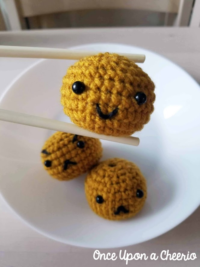 Hong Kong Curry Fishball Play Food Amigurumi FREE Crochet Pattern