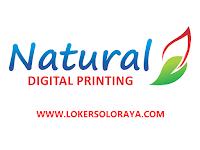 Loker Solo September 2021 di Natural Digital & Offset Printing
