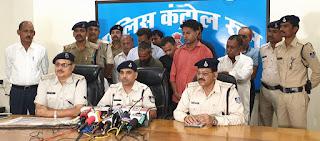 एन.जी.ओ. को विदेश से पच्चीस करोड़ रूपये का फंड दिलाने का कहकर षणयंत्र रचते हुये 7 लाख रूपये लेकर धोखाधड़ी करने वाले 9 आरोपी पुलिस गिरफ्त में