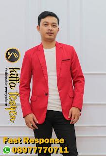 Blazer Pria Merah