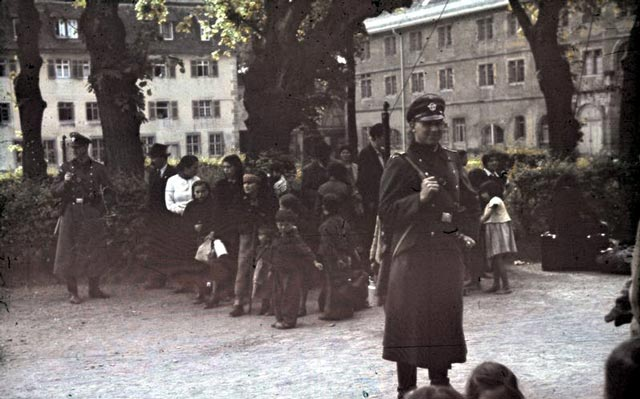 Germans rounding up Gypsies during World War II worldwartwo.filminspector.com