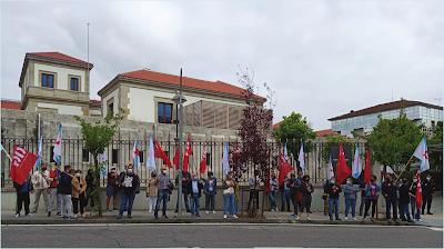 Concentración da CIG diante da Consellería de Economía e Facenda en San Caetano, Compostela