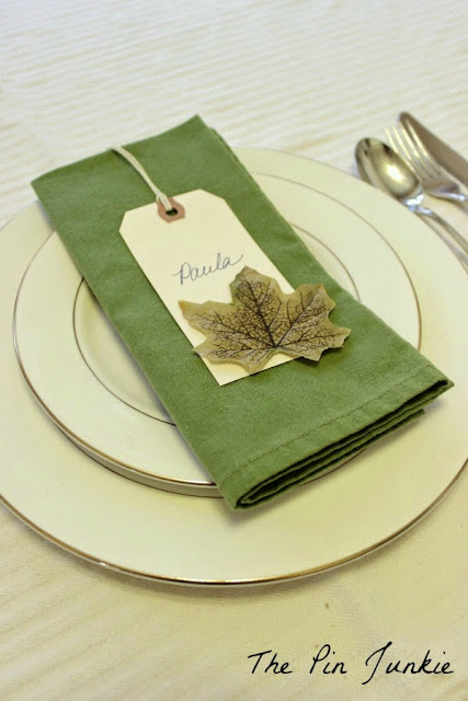 fall leaf place card