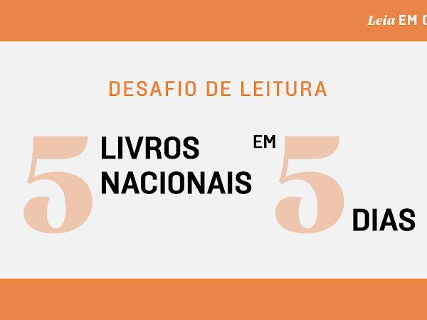Desafio de leitura Companhia das Letras: 5 livros nacionais em 5 dias