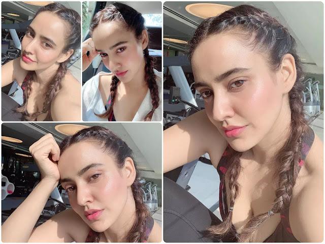 Neha Sharma Dutch Braid Pigtails