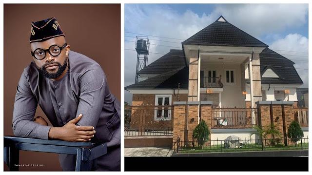 Actor Okon Lagos shows off his Newly Built Mansion (Photos)