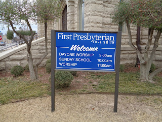 first presbyterian church sign