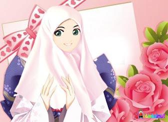 Gambar Kartun Cewek Cantik Berjilbab Muslimah Cantik Berhijab