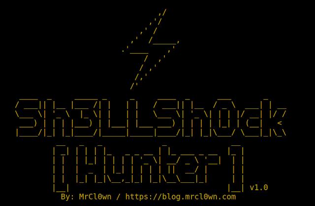 ShellShockHunter - It's A Simple Tool For Test Vulnerability Shellshock