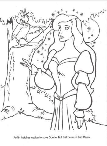 Tranh tô màu công chúa thiên nga 7
