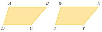 Segi empat ABCD dan WXYZ