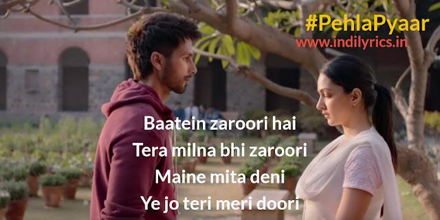 Pehla Pyaar | Kabir Singh | Shahid Kapoor & Kiara Advani | Pics | QUotes | Images
