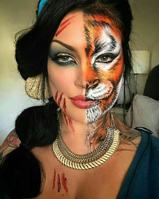 Animal makeup halloween