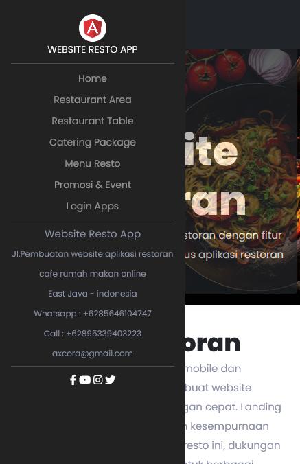 aplikasi android website restoran cafe rumah makan online