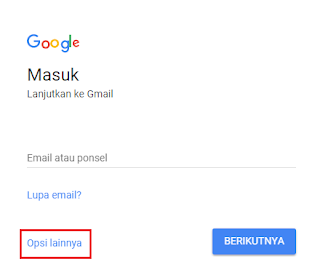 Pendaftaran Akun Gmail