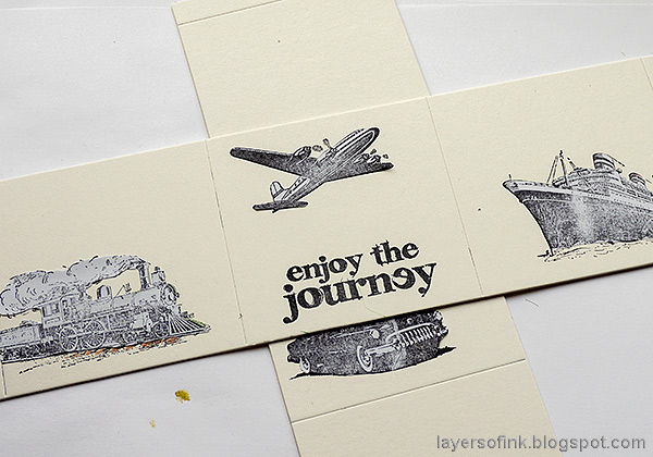 Layers of ink - Vintage Vehicles Box Tutorial by Anna-Karin Evaldsson. Mask the images.