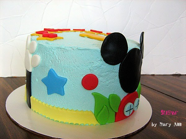 Sugar Mickey Mouse Clubhouse Smash Cake For A 1st Birthday