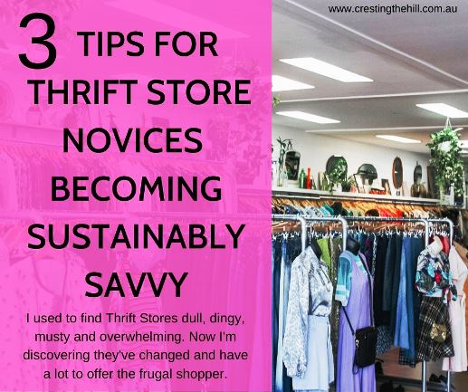 I used to find Thrift Stores dull, dingy, musty and overwhelming. Now I'm discovering they've changed and have a lot to offer the frugal shopper. #sustainable #thrift